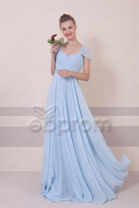 Light Blue Maternity Bridesmaid Dresses