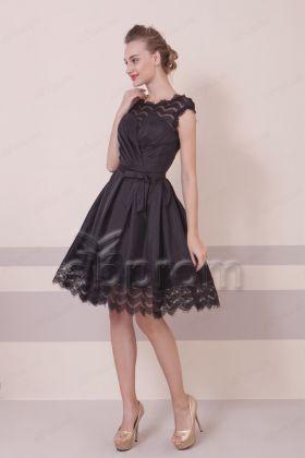 Pretty Little Black Dresses Bacless Short Prom Dresses